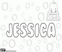 coloring pages jessica name jessica name in many languages coloring page printable game