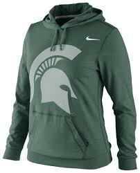 michigan state spartans women u0027s nike fan jersey lightweight hooded