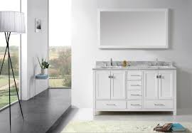 Virtu USA Caroline Avenue  Double Bathroom Vanity Set In White - Virtu usa caroline 36 inch single sink bathroom vanity set