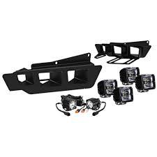 rigid industries led driving lights f 150 raptor fog light bezel and mounting kit with kc hilites flex