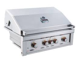 Built In Gas Grills Ruby 36 Inch 4 Burner Pro Sear Gas Grill With Infrared Back Burner