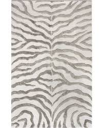 Zebra Area Rug Shopping Sales On Zebra Print With Faux Silk Highlights