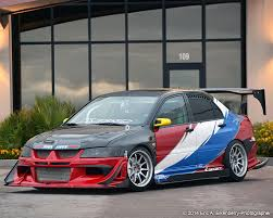 mitsubishi lancer evo modified team hybrid evo viii running k u0026n air filter featured in june july