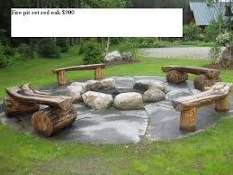 Firepit Logs Diy Seating For Firepit In Backyard Next Time Solid Wood Logs