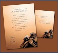 western wedding invitations country styled wedding
