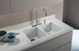 kitchen sink and faucet k 596 bl cp vs kohler simplice kitchen sink faucet with 16 5 8 pull
