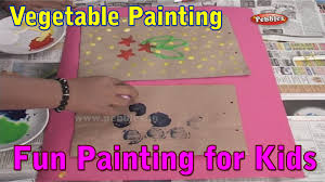vegetable painting paper bag painting techniques for kids