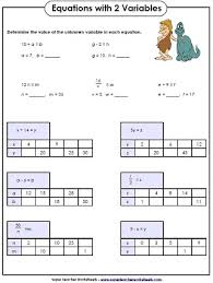 free printable math worksheets variables expressions worksheets