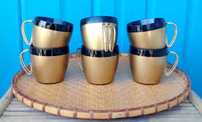 mugs u0026 more gold also coffee
