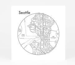 Map Ballard Seattle by Archie U0027s Press Circle Map Of Seattle At Buyolympia Com