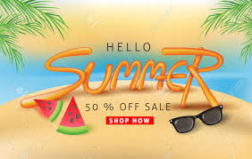 summer sale summer sale background layout with balloon font design for banners