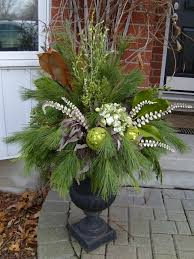 Christmas Decorating Ideas Outdoor Planters Pictures Urns Decorated For Christmas Christmas Urn Images Christmas Urn
