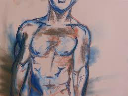 tamsin spargo male figure sketch soft pastel on paper