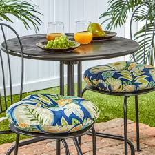 Outdoor Furniture Cushions Home Fashions Solid 2 Pk Outdoor Round Chair Cushions 15