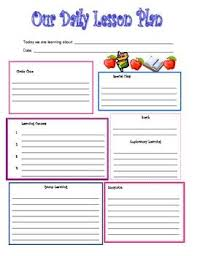 the 25 best preschool lesson plan template ideas on pinterest
