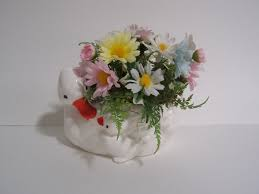 flower arrangements for dining room table decoration ideas colorful silk flower with ceramic duck