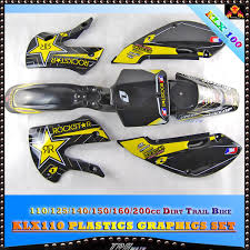 new black plastics u0026 yellow stickers for klx110 dirt pit bike