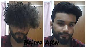 from curly to straight hairstyle for men youtube
