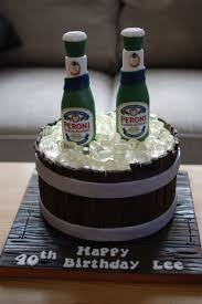 birthday cake drink peroni nastro azzuro barrel birthday cake bakealous