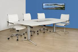 Large White Meeting Table Harmony Boardroom Table In White Silver Fast Delivery