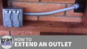 Outdoor Light Fixture With Power Outlet by How To Extend An Electrical Outlet Youtube