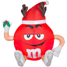 red m u0026m inflatable christmas decoration sweet christmas at kmart