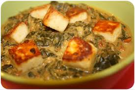 cuisine indienne vegetarienne palak paneer fromage indien home made inside kitchen
