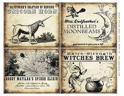 10 best images of printable potion labels halloween potion
