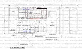 Free Floor Plan Template Free Blueprint For Food Trucks Food Truck Floor Plans Blue
