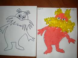 lorax coloring book lorax art i created the outline of the lorax on the left