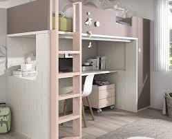 lit sureleve avec bureau lit haut composé d un bureau et d une armoire meubles ros