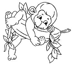 baby monkey coloring pages kids stylish inspiration monkey