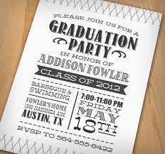 grad party invitations letterpress digital graduation party by printasticdesign on etsy