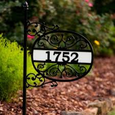 decorative house number signs decorative plate with house and