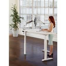 Standing Corner Desk Workrite L Shape Standing Corner Desk Essentia Free Shipping In