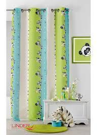 rideau chambre bébé jungle rideau pour enfant ã imprimã s zã bre multicolore homemaison