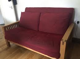 oak futon sofa bed top of the range solid oak 2 seater futon sofa bed by futon company