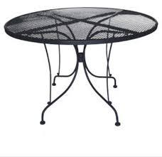 Charleston Patio Furniture by Dc America Charleston Round Wrought Iron Table U0026 Reviews Wayfair