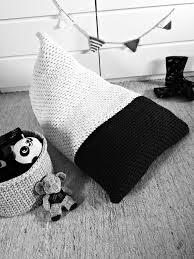 Giant Floor Pillows For Kids by Chunky Knit Bean Bag Pouf Modern Color Block Bean Bag Pouf