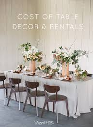 chair rentals ta cost of table decor and rentals budget breakdown from shannon