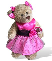 teddy clothes a fit teddy clothes candy pink polka dot dress 2 bows