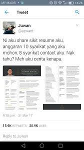 Resume Sample Bahasa Melayu by Khairy Jamaluddin On Twitter