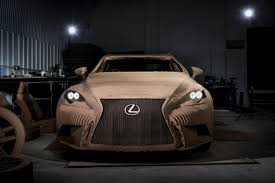 lexus in birmingham uk discover the drivable origami inspired car made out of cardboard
