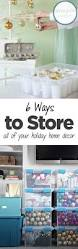 Christmas Decoration Storage Hacks by Best 25 Holiday Storage Ideas On Pinterest Wrapping Paper