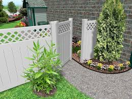 exterior stunning garden fencing ideas in grey paint color also