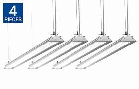 led shop light fixtures 4 foot led garage light fixtures fluorescent garage lights
