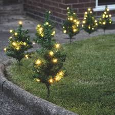 christmas lights net style outdoor christmas tree path lights will create welcoming entrance