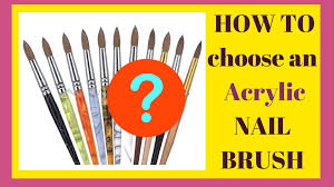 the best acrylic nail brush for beginners tutorial i review