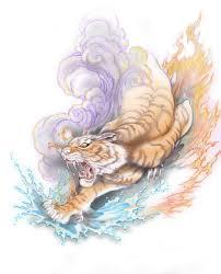 elemental tiger design