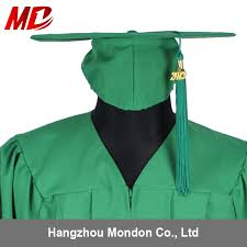 green cap and gown wholesale college green graduation gown wholesale